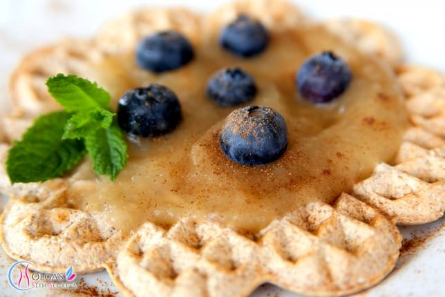 Apple, Blueberries Cinnamon Waffles