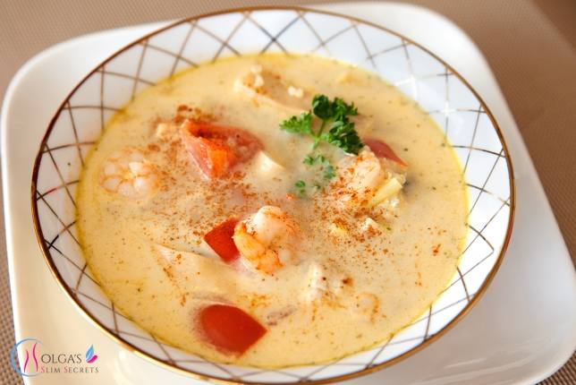 Coconut Soup with Prawns and Quinoa