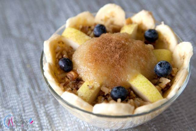 Oatmeal with Pear and Banana