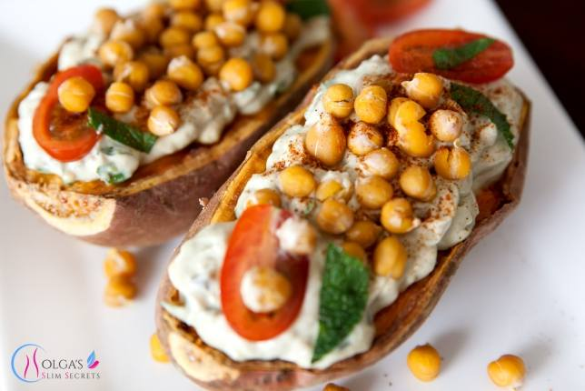 Sweet Potato with Chickpea and Avocado