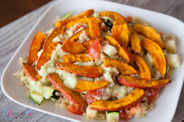 Quinoa with pumpkin and vegetables